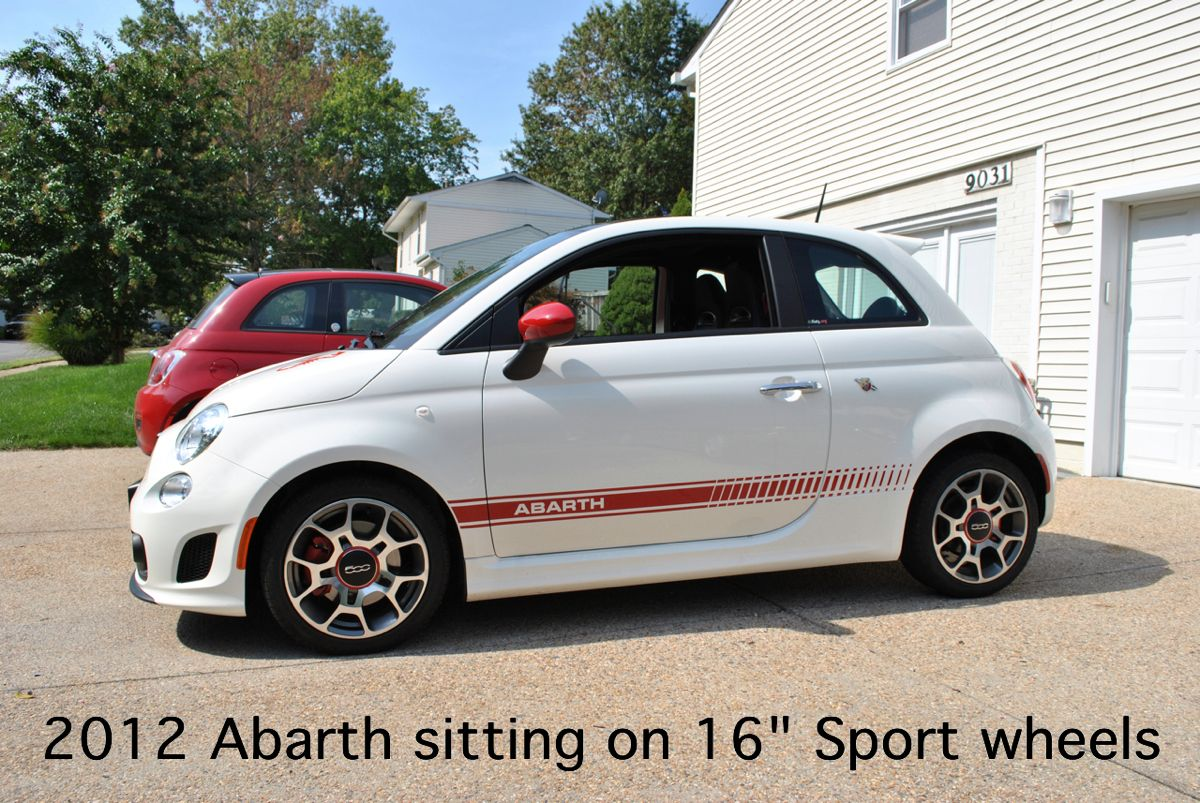 fact sport 16 rims fit on the abarth. Black Bedroom Furniture Sets. Home Design Ideas