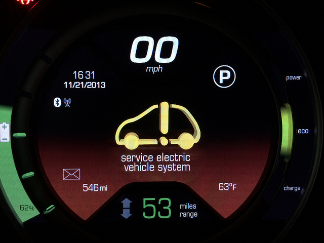 Service Electric Vehicle System Yellow Warning Fiat 500 Forum