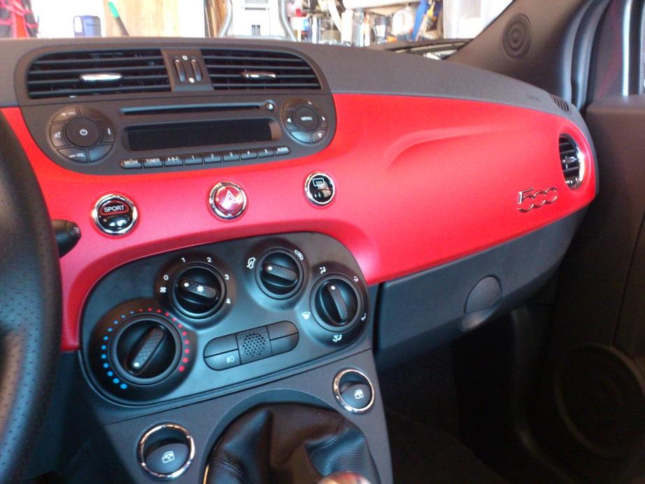 red plasti dip dash panel red headrests. Black Bedroom Furniture Sets. Home Design Ideas