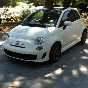Reg outside picture of my Abarth