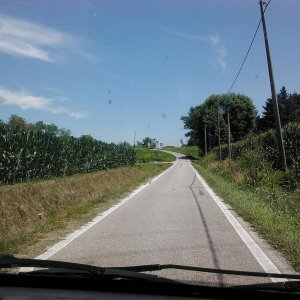 Typical back road width.